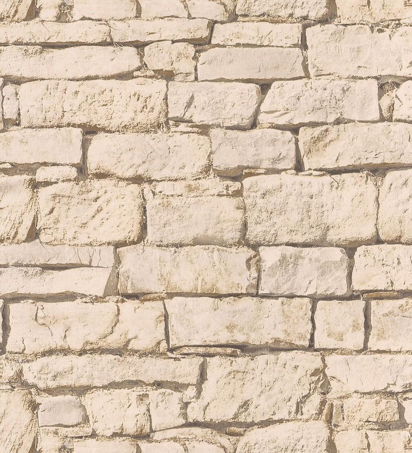 Papel pintado muro de piedra natural r stica arizona 342703 - Muro de piedra natural ...