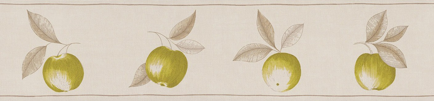 Cenefa frutos artísticos con hojas verde melón Natural Cooking 342706