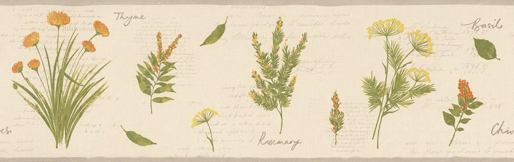 Cenefa plantas aromáticas con letras Lavender Leaves 342707