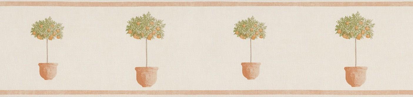 Cenefa árboles pequeños en macetas naranja claro Meyer 342710
