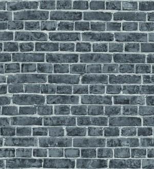 Papel pintado muro de ladrillo juvenil gris oscuro Toronto 342786