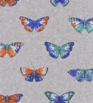Papel pintado mariposas grandes juveniles verde jade Farfalle 342792