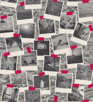 Papel pintado fotos Polaroid de viajes en blanco y negro Vostell 342795