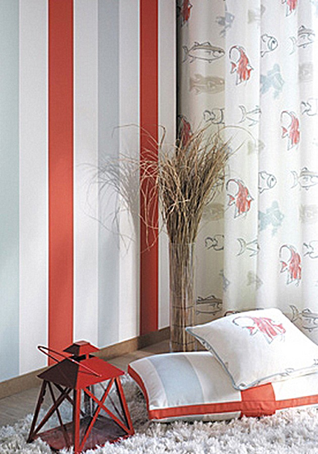 Papel pintado rayas anchas tricolor Raya Argo 227870