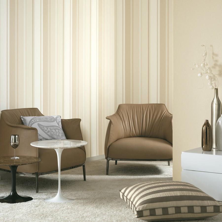 Papel pintado rayas disimétricas modernas Raya Taifa Classic 228301