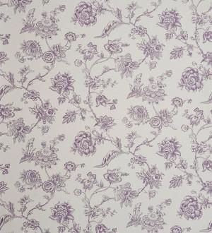 Papel pintado naturaleza de flores artísticas lila oscuro Adelina 229124