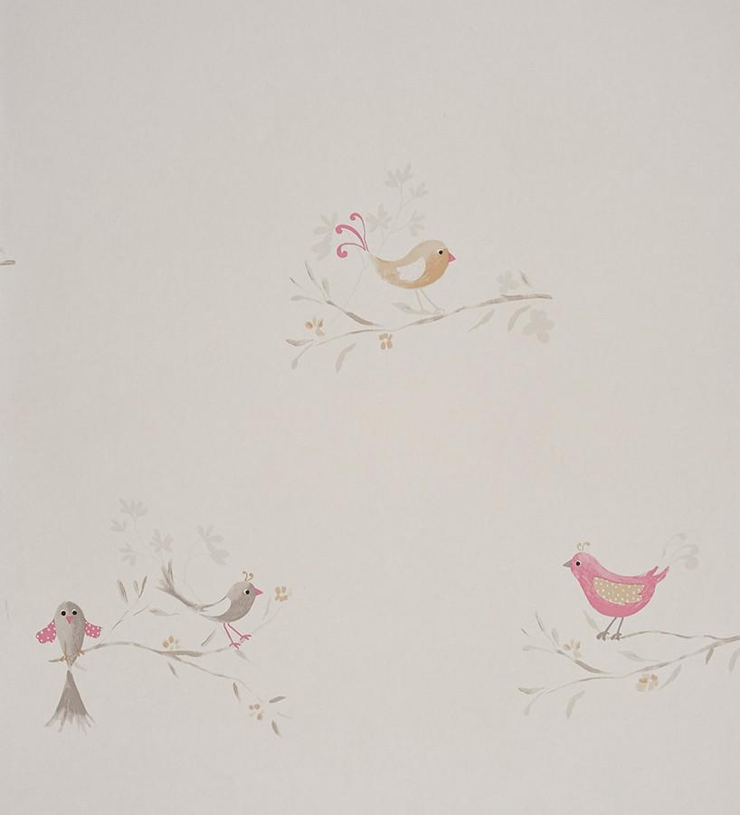 Papel pintado pájaros infantiles de acuarela Singer Birds 229274