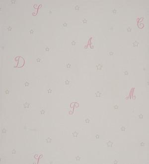 Papel pintado letras románticas en cursiva rosa claro Charming Cursive 229278