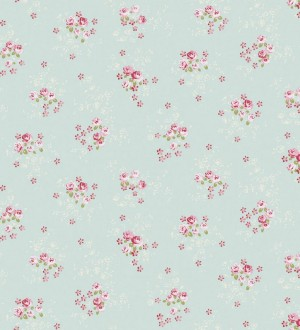Papel pintado ramilletes de flores Liberty Country rosa intenso Gina 229665