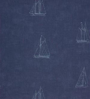Papel pintado veleros vintage marineros celeste grisáceo Victoria 230117