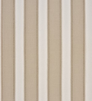 Papel pintado rayas con acabado textil gris claro visón y blanco roto Raya Beagle 230134