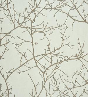 Papel pintado ramas sin hojas diseño nórdico marrón grisáceo claro Aloysia 230169