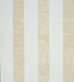 Papel pintado rayas modernas degradadas beige pálido y blanco roto Raya Lilien 231118