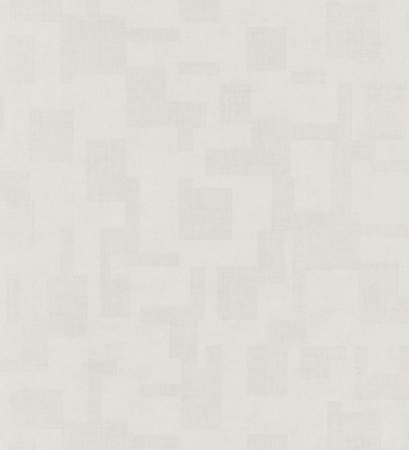 Papel pintado geométrico abstracto sutil blanco Waldemar 231903
