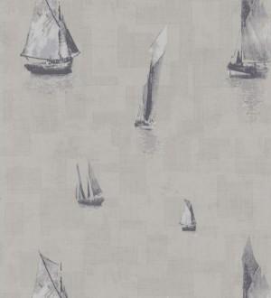 Papel pintado veleros marineros artísticos gris oscuro Tolosa 231927