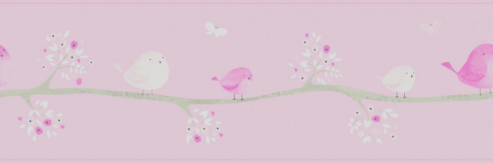 Cenefa pájaros de acuarela en árboles Watercolor Birds 232162