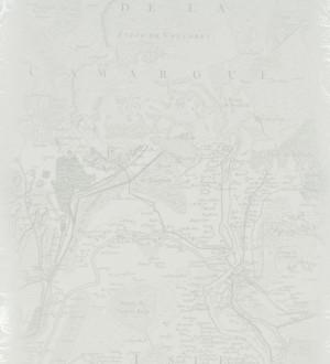 Papel pintado mapa de navegación vintage gris perla metalizado Venator 563836
