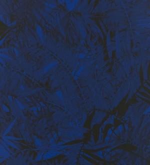 Papel pintado naturaleza de helechos negro fondo azul azafata Brasilia 563881