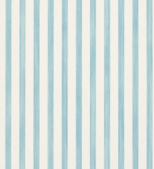 Papel pintado rayas modernas bicolor celeste aguamarina y blanco Raya Turkana 563900