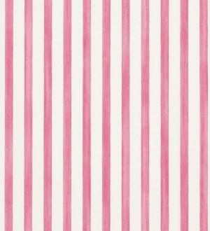 Papel pintado rayas modernas bicolor rosa intenso y blanco Raya Turkana 563904