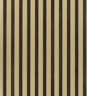 Papel pintado rayas modernas bicolor negro y perla metalizado Raya Turkana 563905