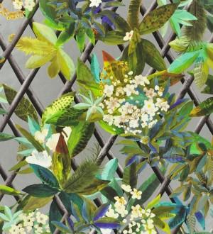 Papel pintado enredadera de hojas y flores Anouk 563927