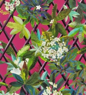 Papel pintado enredadera de hojas y flores Anouk 563928