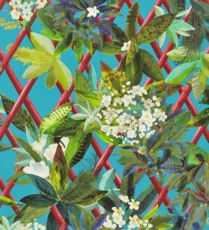 Papel pintado enredadera de hojas y flores Anouk 563929