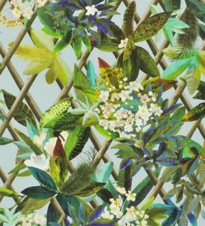Papel pintado enredadera de hojas y flores Anouk 563931