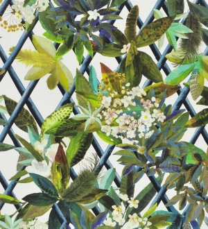 Papel pintado enredadera de hojas y flores Anouk 563932