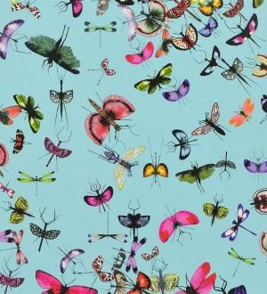 Papel pintado insectos y mariposas románticos rosa intenso Somerset 563963