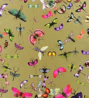 Papel pintado insectos y mariposas románticos rosa intenso Somerset 563964