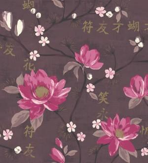 Papel pintado flores art sticas estilo japon s masami 564480 - Papel pintado japones ...