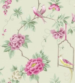 Papel pintado flores y p jaros rom nticos ingleses - Papeles pintados ingleses ...