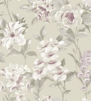 Papel pintado flores de acuarela grandes vintage Charlotte 564572