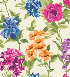 Papel pintado flores de acuarela grandes vintage Charlotte 564573