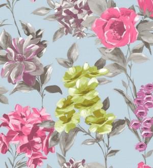 Papel pintado flores de acuarela grandes vintage Charlotte 564574