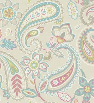 Papel pintado motivos cashmere diseño vintage Ganesha 564582