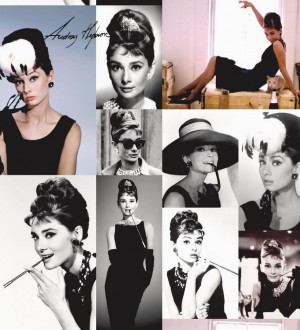 Papel pintado collage fotográfico de Audrey Hepburn Audrey Hepburn 564613