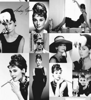 Papel pintado collage fotográfico de Audrey Hepburn Audrey Hepburn 564616