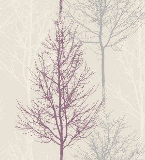 Papel pintado árboles desnudos estilo nórdico fondo gris claro Couvet 564652