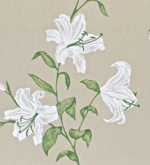 Papel pintado flores de trompeta artísticas Jenevra 564904