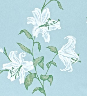 Papel pintado flores de trompeta artísticas Jenevra 564905