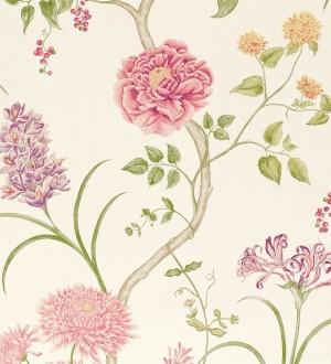 Papel pintado jardín de flores vintage inglés Alissa 564908