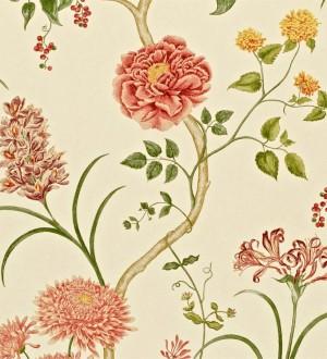 Papel pintado jardín de flores vintage inglés Alissa 564909