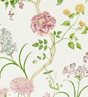 Papel pintado jardín de flores vintage inglés Alissa 564910