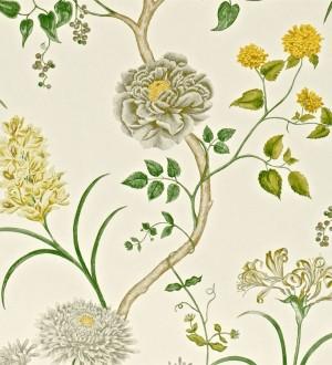 Papel pintado jardín de flores vintage inglés Alissa 564911