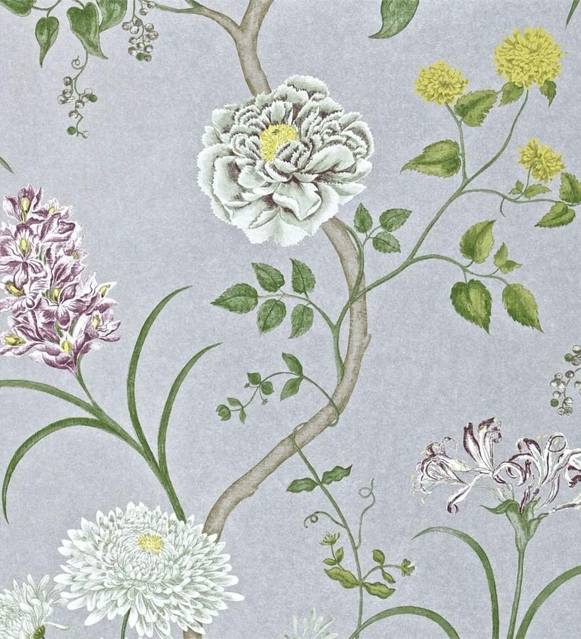 Papel pintado jardín de flores vintage inglés Alissa 564912