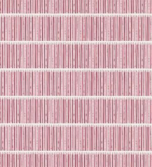 Papel pintado rayas horizontales con l pices tonos rojo - Papel pintado rayas horizontales ...