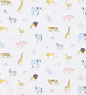 Papel pintado animales de la sabana africana fondo avellana Desert Animals 564946